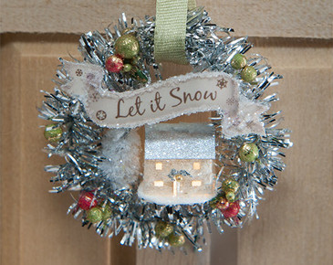Let it Snow Wreath Kit with Glitter House