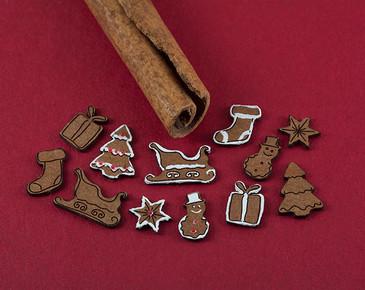 sleights, stockings, trees, presents, snowflakes, snowmen