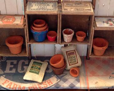 quarter scale pots and fertilizer sacks