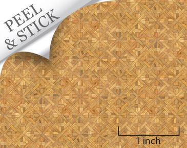 1:48 Peel and Stick Flooring - Medium Color Parquet