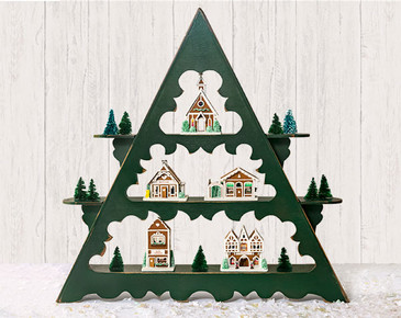 The perfect shelf kit to display holiday collections!