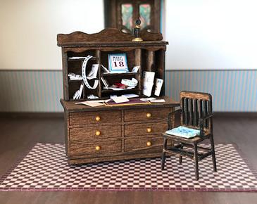 1:48 quarter scale dropdown desk and chair kit