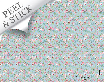 1:48 Peel and Stick Wallpaper - Tiny Flower, Blue