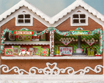 Interior of the quarter scale Gingerbread Market Stall
