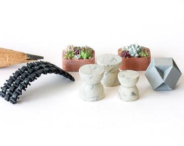 1:48 quarter scale garden accessories: stools, planters, bench