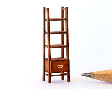 1:48 quarter scale modern bookshelf