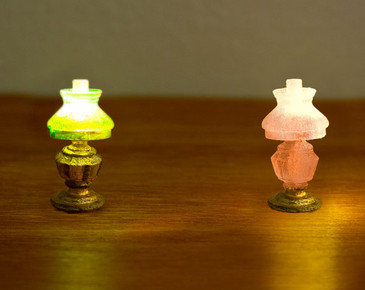 2 oil lamps for 1:48 quarter scale miniatures