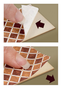 1:48 Peel and Stick Wallpaper - Basket, Sand Color