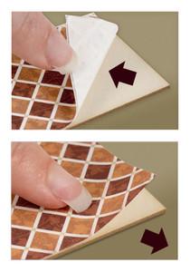 1:48 Peel and Stick Flooring - Herringbone Tile, Pewter Color