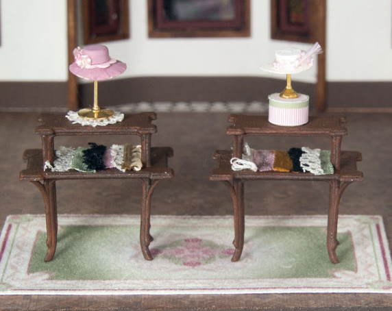 Two 1:48 window display tables
