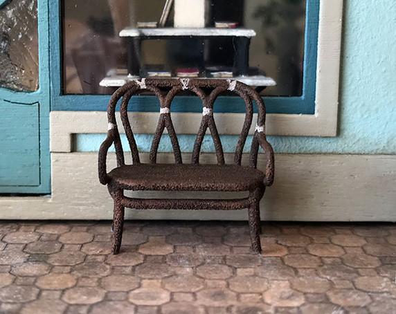 3D printed, quarter scale bentwood settee