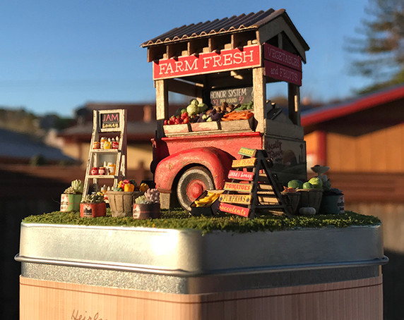 Quarter Scale Farm Stand Kit shown with Accessory Kit