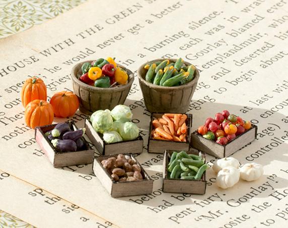 1:48 (quarter) or O Scale vegetables kit. 3D printed