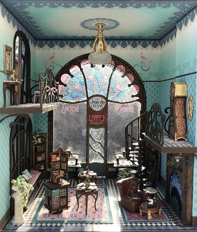 The quarter scale Joie de Vivre bookshop.