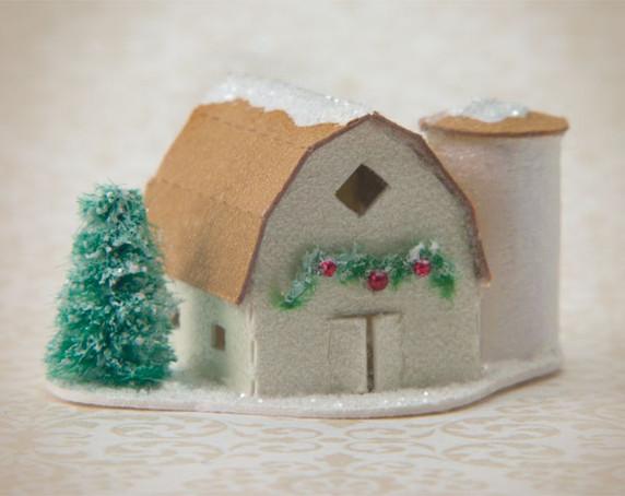 Snow Village Barn