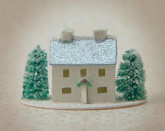 Snow Village Farmhouse