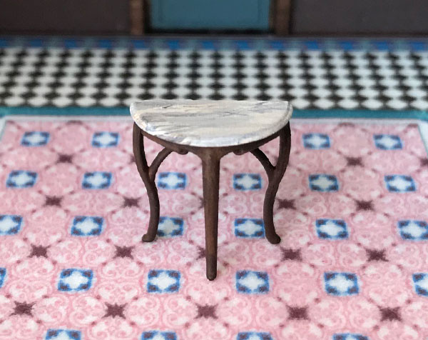 1:48 quarter scale demilune table