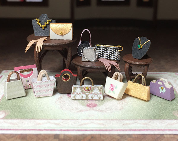 1:48 Boutique Accessories: Purses, Gloves & Jewelry Displays