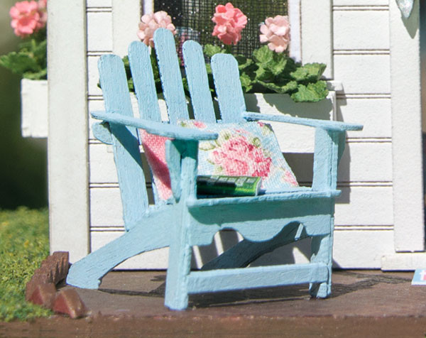 quarter scale 1:48 wood adirondack chair kit