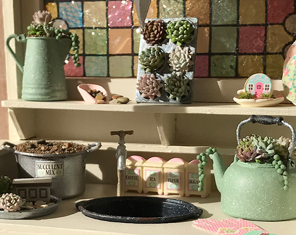 "1"" scale succulents and accessories kit"