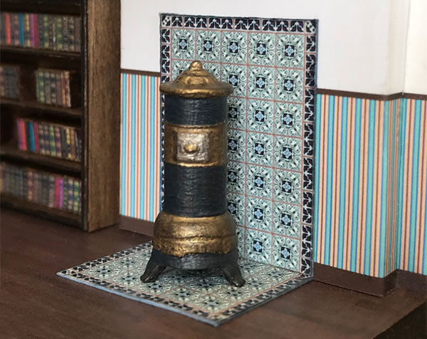 Quarter scale (1:48) French Stove with Tile.