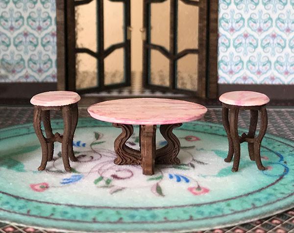 Quarter scale (1:48) set of tables