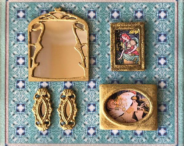 1:48 quarter scale mirrors and framed artwork kit