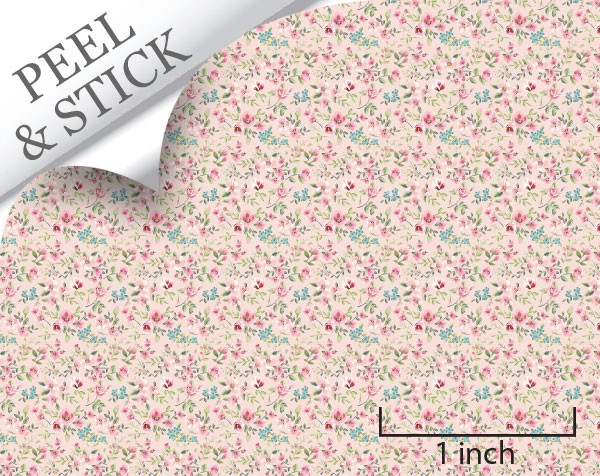 1:48 Peel and Stick Wallpaper - Tiny Flower, Pink