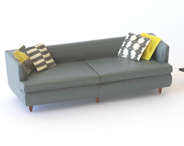 1:48 quarter scale sofa