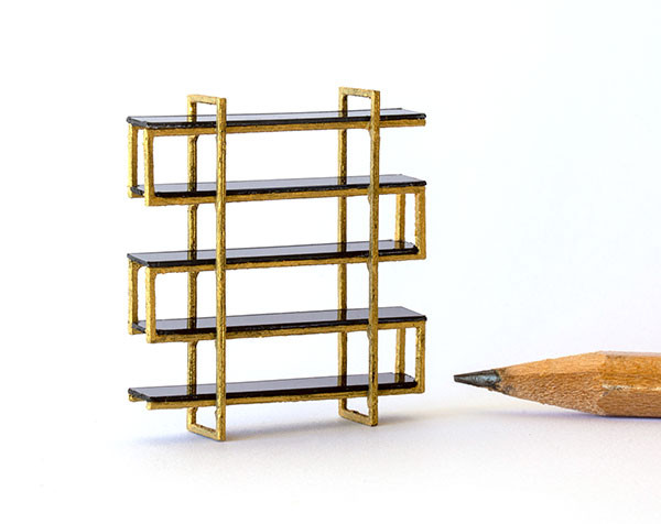 1:48 quarter scale modern bookcase