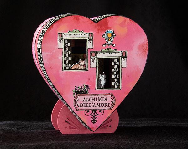 Quarter scale Valentine's Day roombox