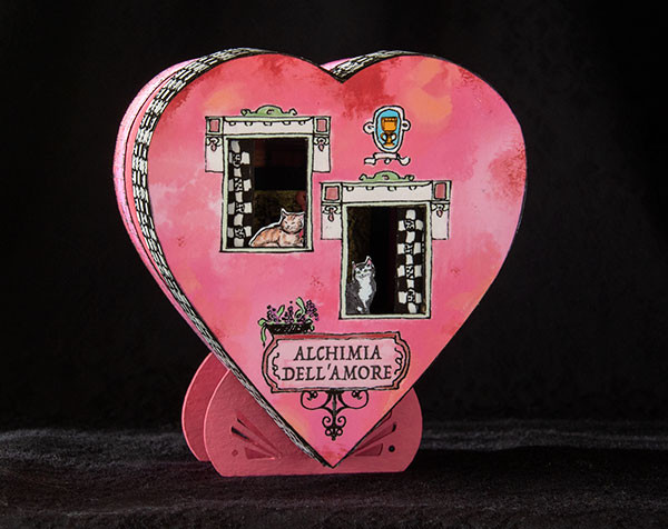 Quarter scale Valentine's Day roombox