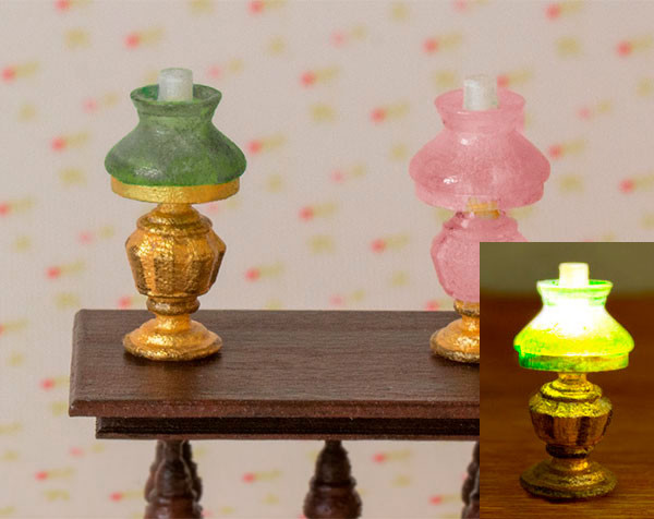 Victorian Oil Lamps - Set of 2