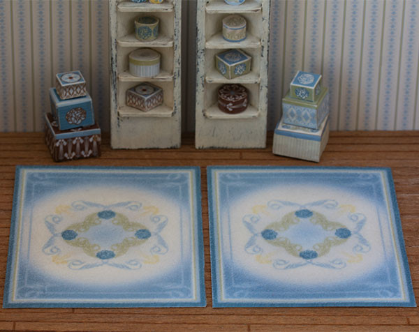 1:48 Blue Rugs (2 pcs)
