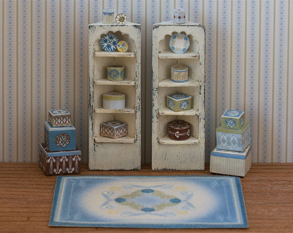 1/4 scale Blue Boxes and Plates Kit