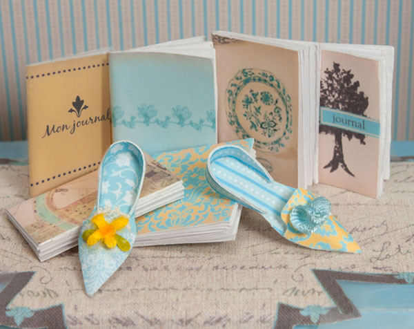 Journals and Decorative Paper Shoes