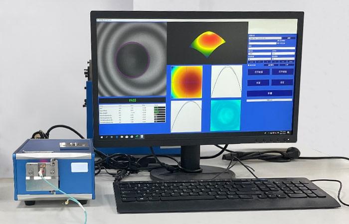 3-D metrology testing for multimode fiber patch cords