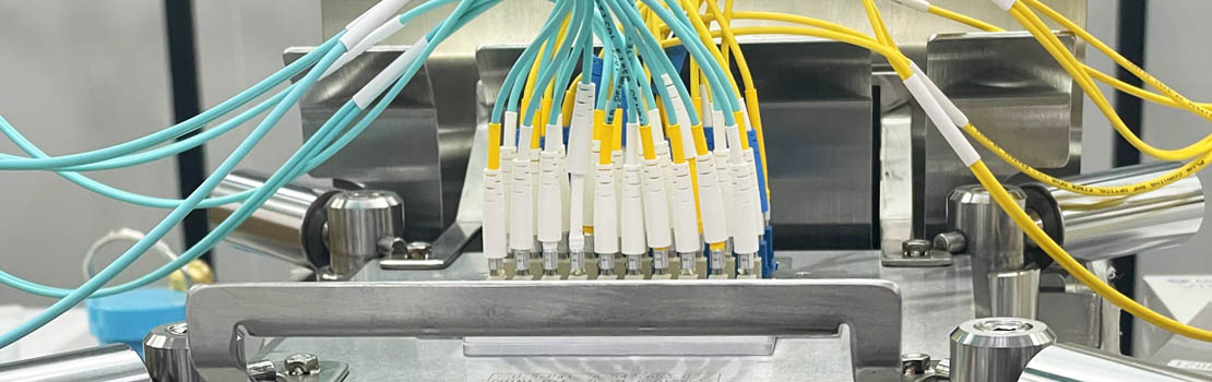 Fiber patch cables being polished
