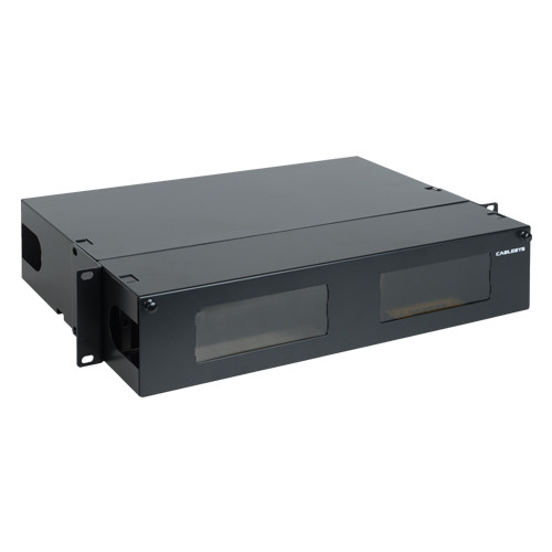 Fiber Optic Empty Rack Mount Enclosure HD 8 Adapter Panel Spaces