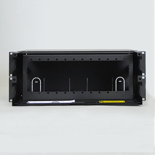 Fiber Optic Empty Rack Mount Enclosure 12 Adapter Panel Space Back