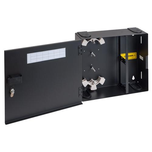 Fiber Optic Empty Wall Mount Enclosure 4 Adapter Panel Spaces