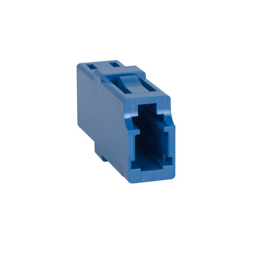 LC to LC Fiber Optic Square Mount with Simplex Adapter in Blue with Ceramic Sleeve