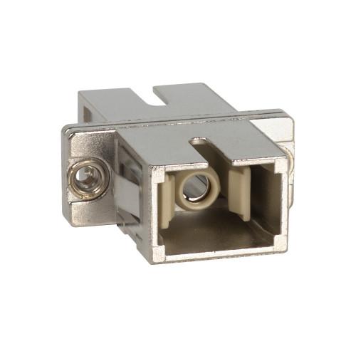 SC to SC Fiber Optic SC Mount with Simplex Adapter in Metal in Metal Sleeve