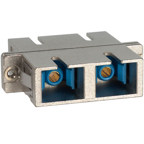 SC-SC Fiber Optic SC Mount Duplex Adapter in Metal with Metal Sleeve