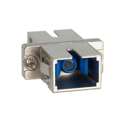 SC to SC Fiber Optic SC Mount with Simplex Adapter in Metal with Ceramic Sleeve