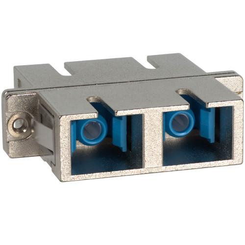 SC to SC Fiber Optic SC Mount withDuplex Adapter in Metal with Ceramic Sleeve