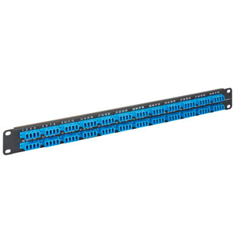 LC to LC Fiber Optic Patch Panel Pre-loaded with 96 Blue Fibers