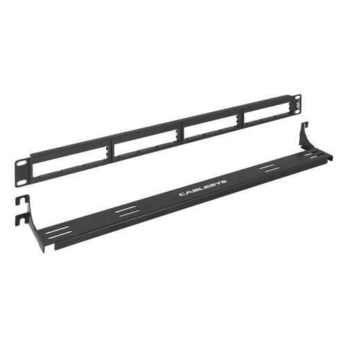 Blank 4 Bezel Patch Panel with a 3 inch Front Cable Management Bracket