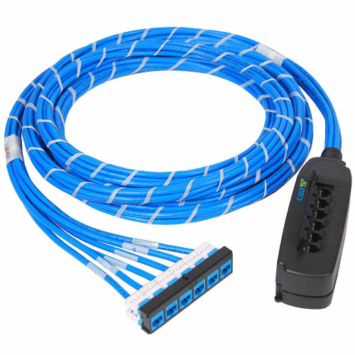 Pre-terminated UTP Cassette Patch Panel with CMR CAT5e Cable Assemblies, 6 Ports, Bezel to Mobile Box