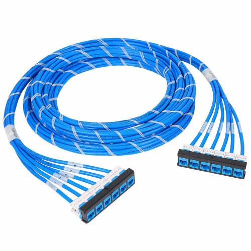 Pre-terminated UTP Cassette Patch Panel with CMR CAT6e Cable Assembly, Bezel to Bezel